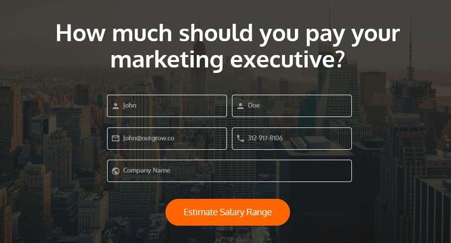 marketing executive salary guide